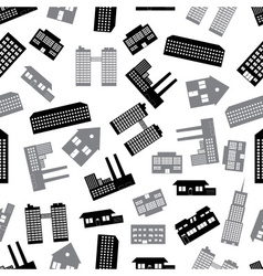 buildings and houses seamless pattern eps10 vector image