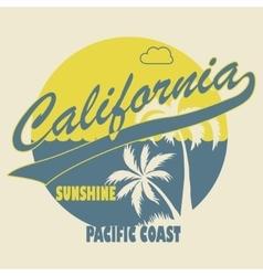 California Typographic t-shirt fashion design vector image