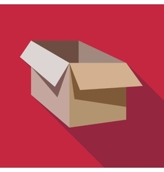 Cardboard box icon flat style vector image