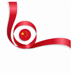 Chinese wavy flag background vector