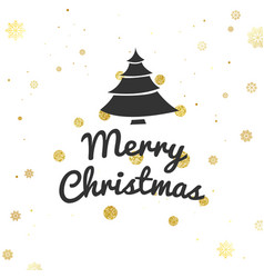 christmas greeting card and background merry vector image