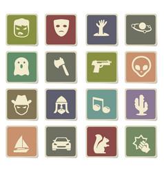 Cinema genres icon set vector