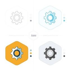Cog Settings Icon Symbol 4 design vector image