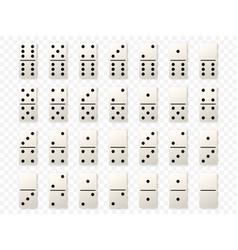 dominoes or domino tiles white mockups vector image