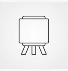 easel icon sign symbol vector image