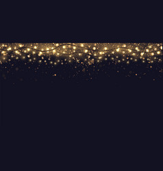 Festive background with gold glitter and vector