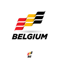 Flag belgium dynamic culture celebration icon vector