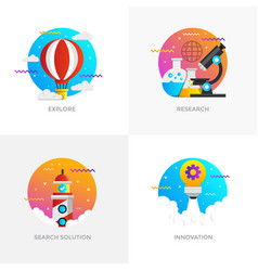 flat designed concepts - colored 7 vector image