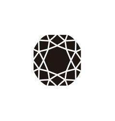 flat diamond icon vector image