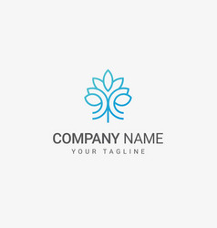 flower line art logo vector image