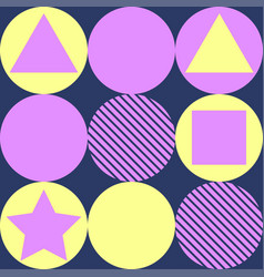geometry pattern background vector image