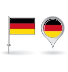German pin icon and map pointer flag vector