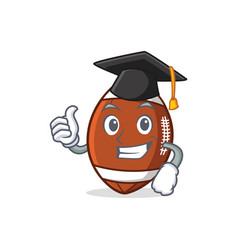 graduation american football character cartoon vector image