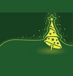 green abstract christmas background vector image