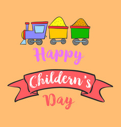 Happy childrens day background style vector