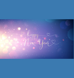 happy new year greeting text vector image