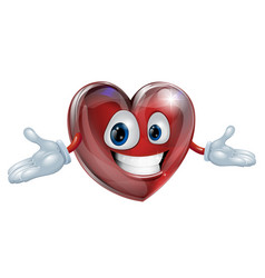 heart cartoon man vector image