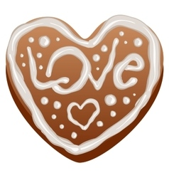 Heart shape gingerbread cakes vector image