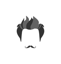 Hipster Male Hair and Facial Style With French vector
