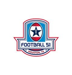 Houston American Football 51 Stars Crest Retro vector