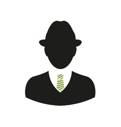 Icon man in retro style for websites vector