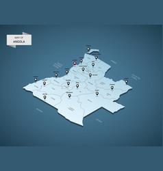 Isometric 3d angola map concept vector