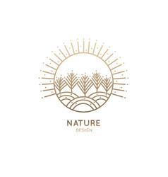 Logo winter landscape vector