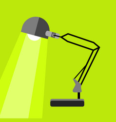 Long table lamp icon flat style vector