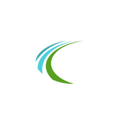 Loop arrow business logo vector