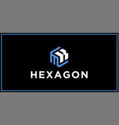 Mk hexagon logo design inspiration vector