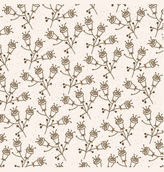 monochrome background with pattern of flowers with vector image