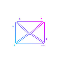 multimedia media message letter icon design vector image