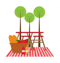 Picnic in nature vector
