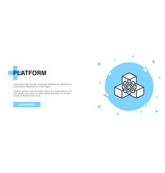 platform line icon simple icon banner outline vector image