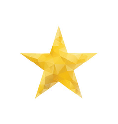 polygonal gold star isolated vector image