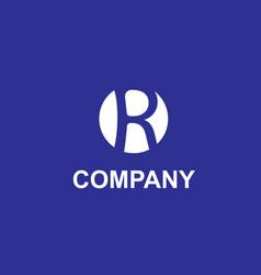 r design logo vector image