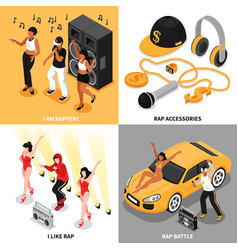 rap music 2x2 design concept vector image