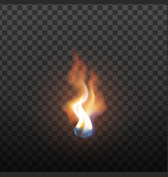realistic candlelight brush fire element vector image