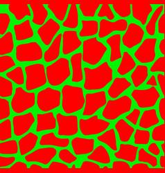 red green tropical animal giraffe seamless pattern vector image