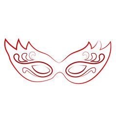 red mask drawing on white background vector image