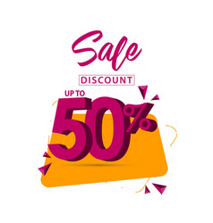 Sale discount up to 50 template design vector