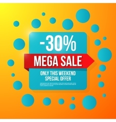 Sale special offer 30 off vector