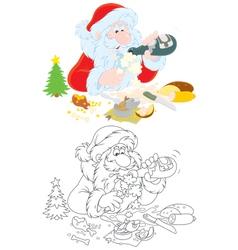 Santa slightly drunk vector image