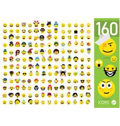 Set emoticons set emoji isolated vector