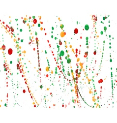 Set of colorful watercolor hand painted splashes vector image