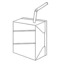 set of milk box vector image