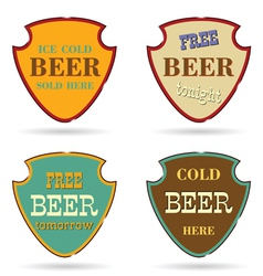 Shield with beer commercial vector
