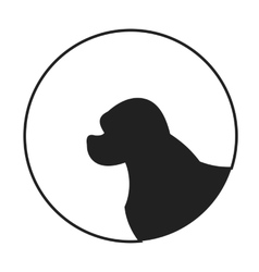 Silhouette of a dog head spaniel vector