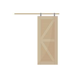 Sliding door on white background vector