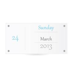 Small calendar vector